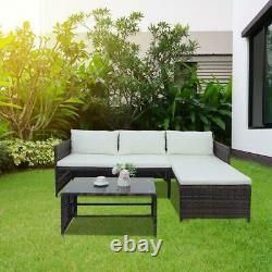 Patio Wicker Furniture Outdoor Rattan Sofa Bed Livingroom Conversation Chair Set