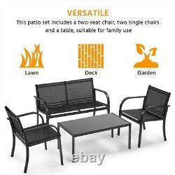 Patio Wicker Furniture Set Outdoor Rattan Sofa Garden Conversation Set