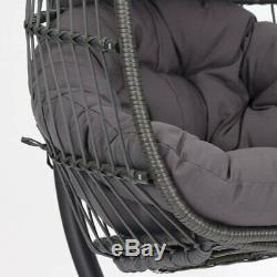 Patio Wicker Swing Chair Hanging Chair Hammock Stand Outdoor Egg Chair Furniture