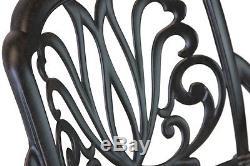 Patio furniture Dining Set Elisabeth 9pc set Outdoor cast aluminum Desert Bronze