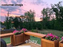 Raised Wood Planter Bench Outdoor Patio Furniture Elevated Garden Yard Flower