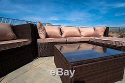 Rattan Furniture Set 6 PCS Sofa Garden Outdoor Patio PE Wicker Cushioned Lawn