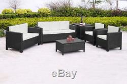 Rattan Garden Furniture Set Sofa Chairs Table Conservatory Outdoor Patio Wicker