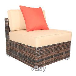 Rattan Wicker Furniture Set 7PC Cushioned Outdoor Garden Seat Patio Sofa Chair