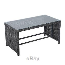 Rattan Wicker Sofa Set 4PC Patio Furniture Table Chair Outdoor Deck Sectional