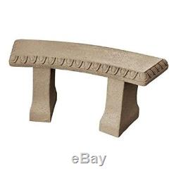 Sandstone Resin Garden Bench Statue Outdoor Patio Furniture 16 X 12 X 34 In