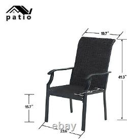 Set of 2 Patio Wicker Chair Rattan Chairs Furniture Club Outdoor Dining Chair