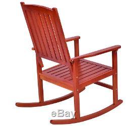 Set of 2 Wood Rocking Chair Porch Rocker Indoor Outdoor Patio Deck Furniture New