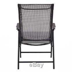 Set of 4 Outdoor Patio Folding Chairs Camping Deck Garden Pool Beach WithArmrest