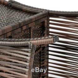 Sofa sets 4 PC Outdoor Patio Furniture Sets Rattan Chair Backyard Porch Wicker