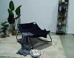 Sun Lounger Summer Garden Rocking Chair Indoor Outdoor Furniture Patio Cup Bag