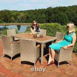 Sunnydaze Foxford 7-Piece Outdoor Dining Patio Furniture Set with Cushions