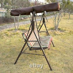 Swing Chair Steel Outdoor Patio Canopy Awning Porch Furniture Adjustable New