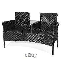 Topbuy Outdoor Rattan Furniture Wicker Patio Conversation Chair
