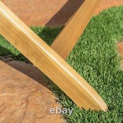 Vicaro Outdoor Natural Finish Acacia Wood Foldable Dining Chairs (Set of 2)
