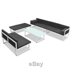 VidaXL Garden Sofa Set 17 Pieces Textilene Aluminum Outdoor Patio Furniture