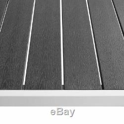 VidaXL Outdoor Dining Set 9 Pieces WPC 72.8x35.4x29.1 Black Patio Furniture