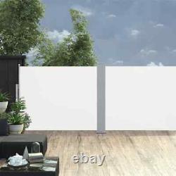 VidaXL Retractable Side Awning Cream 66.9x393.7 Outdoor Patio Privacy Screen