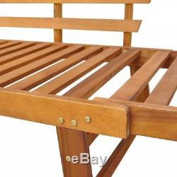 VidaXL Solid Acacia Wood Cushions Garden Bench Day Bed Outdoor Patio Oil Finish