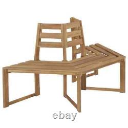 VidaXL Solid Acacia Wood Tree Bench 63 Patio Outdoor Seat Relaxer Furniture