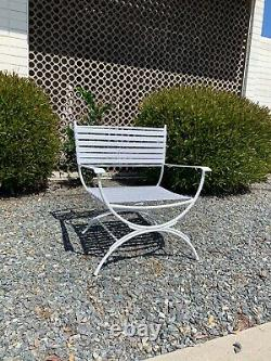 Vintage Mid Century Keller Scroll Hialeah Outdoor Patio Furniture Set
