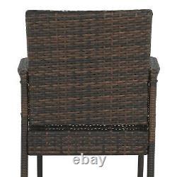 Wicker Bar Stool Rattan Chair Patio Furniture Chair Outdoor Backyard Set of 2