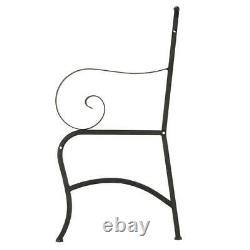 Wrought Iron Chair Porch Rocker Patio Outdoor Deck Seat Furniture