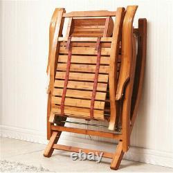 XL Patio Outdoor Rocking Chair Wood Porch Rocker Lounger Home Garden Furniture