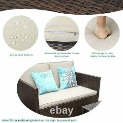 YITAHOME 4PC Patio Furniture Sectional Sofa Set Outdoor Rattan Wicker Couch Yard