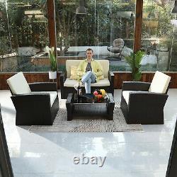 YITAHOME 4PC Patio Sofa Set Outdoor Sectional Furniture Conversation Set Cushion