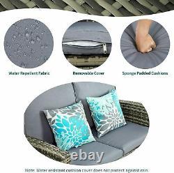 YITAHOME 4PC Rattan Furniture Set Outdoor Patio Garden Sectional PE Wicker Sofa