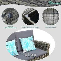 YITAHOME 4Pcs Outdoor Patio Sofa Furniture Rattan Wicker Cushion Couch Sectional