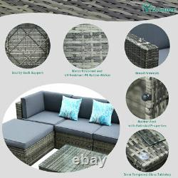 YITAHOME 5Pcs Outdoor Patio Sofa Furniture Rattan Wicker Cushion Couch Sectional