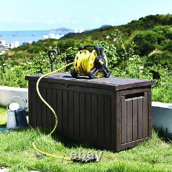 YITAHOME 76 Gallon Deck Box Outdoor Storage Box Patio Container Resin Furniture