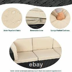 YITAHOME 7PCS Outdoor Patio Sectional Furniture PE Wicker Rattan Sofa Set Garden