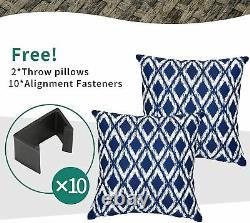 YITAHOME 7PCS Patio Wicker Rattan Sofa Conversation Set Outdoor Garden Furniture