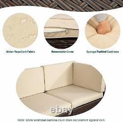 YITAHOME 7pcs Outdoor Patio Sofa Set PE Rattan Wicker Sectional Furniture Garden