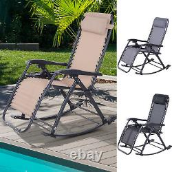 Zero Gravity Recliner Lounge Chair Patio Rocker Home Outdoor Napping Cup Holder